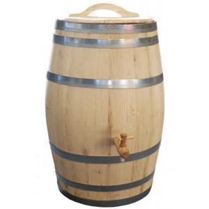 Kastanje houten regenton 200 liter