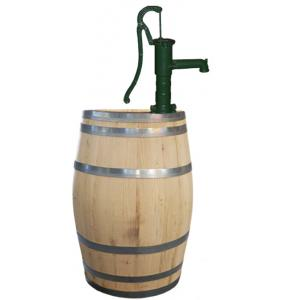 Kastanje houten regenton 225 liter met pomp