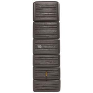 Garantia design regenton slim 300 liter wood decor bruin