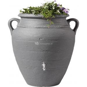 Garantia regenton amphora antraciet 600 liter met plantenbak