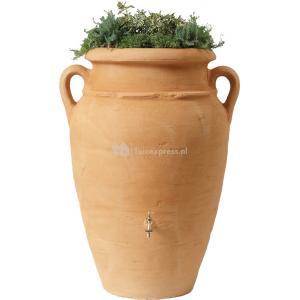 Amphore regenton met plantenbak Zand 250 liter