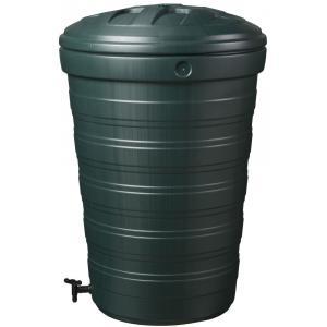 Conische kunststof regenton 200 liter groen